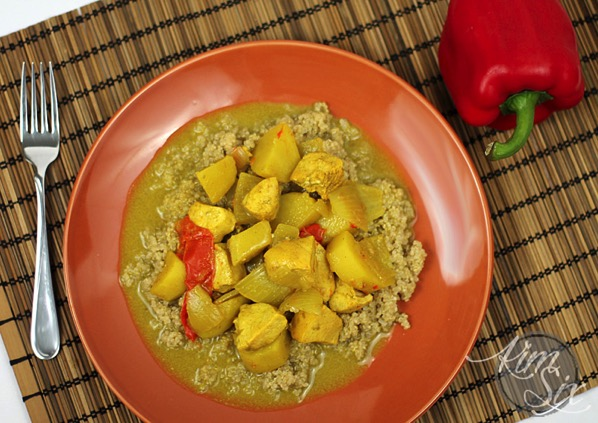 Coconut Chicken Curry over Quinoa