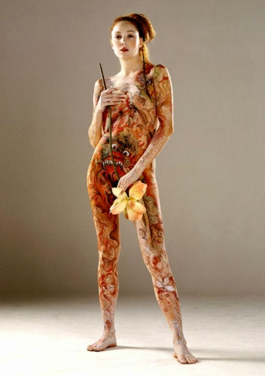 Japanese Body Art Gallery  Body Paint   Body Art Pictures Gallery