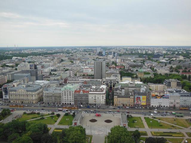 Vistas desde la planta 30 del Palacio de la Cultura y la Ciencia