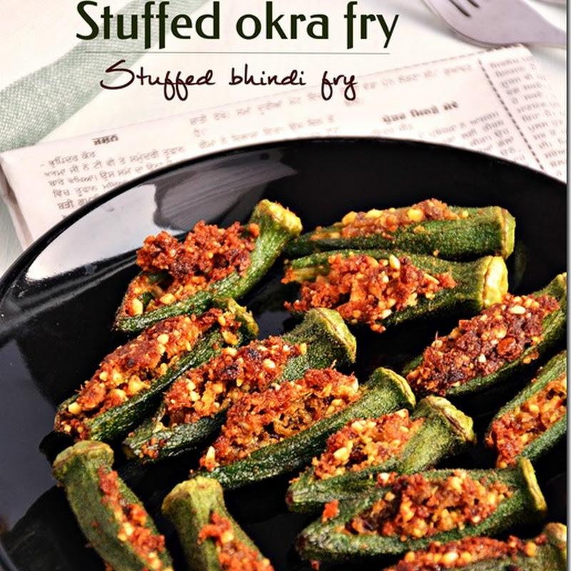 Stuffed okra fry / Bhindi fry / Vendakkai varuval
