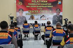 Polresta Sidoarjo Tingkatkan Kemampuan dan Peran Bhabinkamtibmas Sebagai Tracer Covid-19
