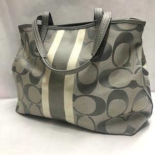 Coach Monogram Canvas Shoulder Bag