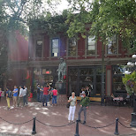 tourists at Gastown, Vancouver in Vancouver, British Columbia, Canada