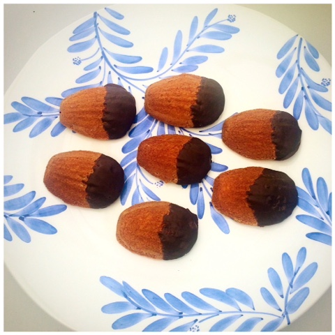Living and Beauty Chocolate Dipped Madeleines