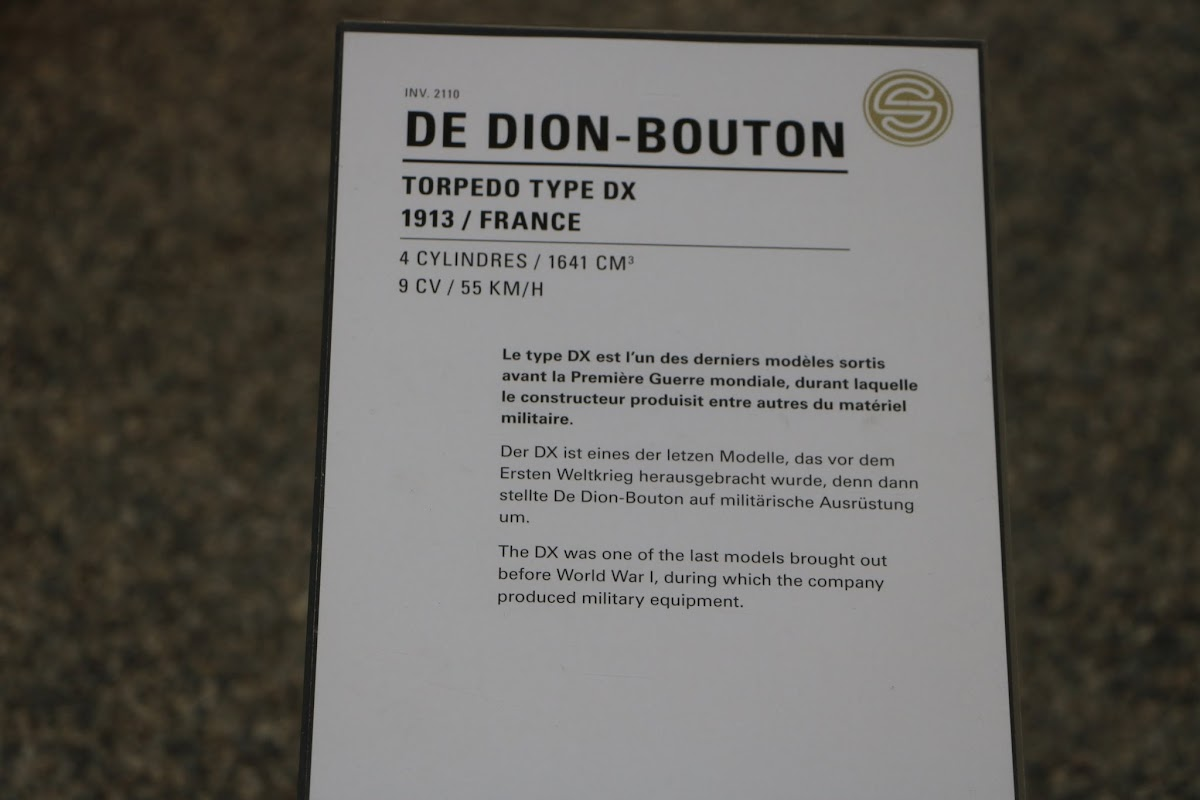 Schlumpf Collection 0509 - 1913 De Dion-Bouton Torpedo Type DX.jpg