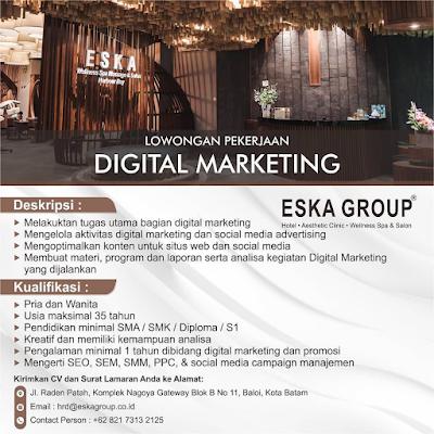 Loker Digital Marketing di Eska Group