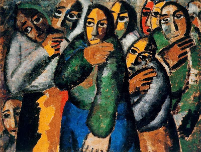 Kazimir Malevich - Peasant Womem at Church