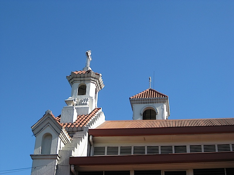 side view of the Church of San Juan del Monte (Pinaglabanan Church) in San Juan City