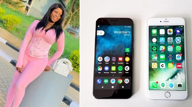"""""""This guy came to collect my digits with his Infinix hot 4 while I'm using an iPhone 8plus"""" – Lady shames man"""