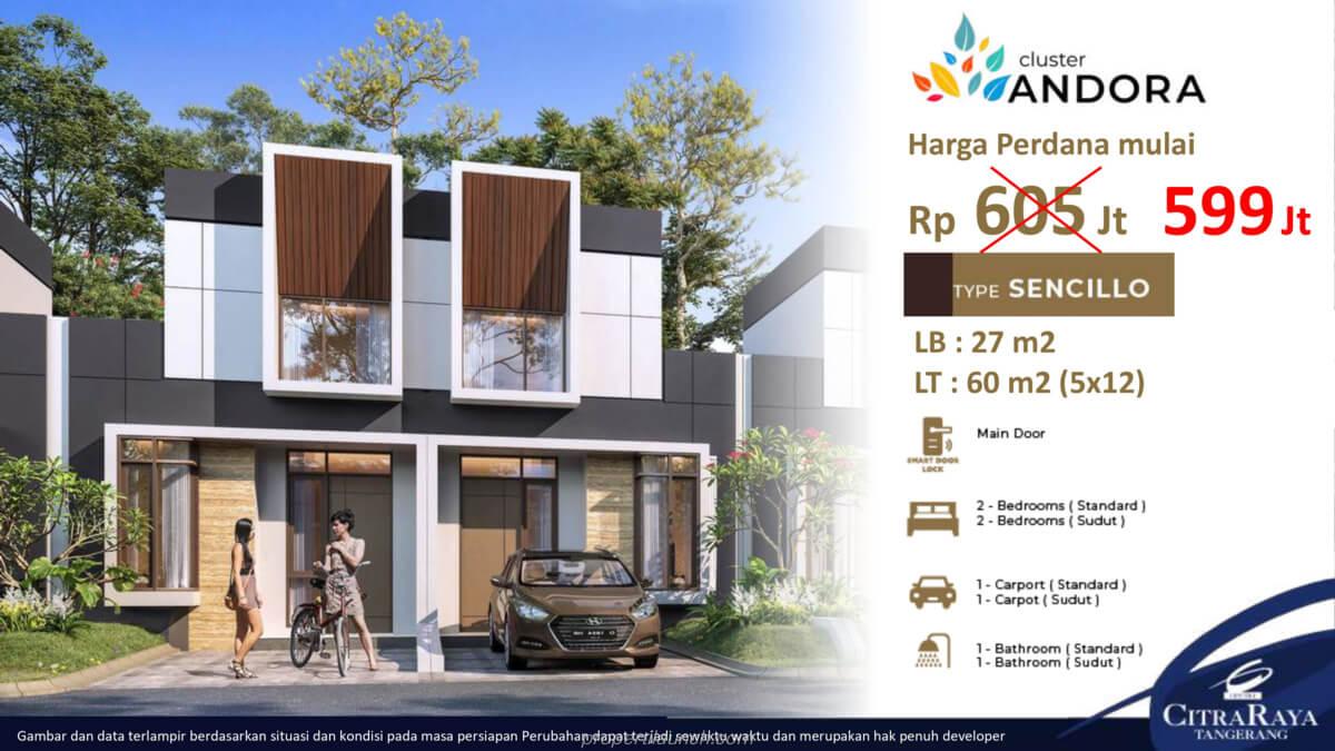 Rumah Andora Citra Raya Tipe 5x12