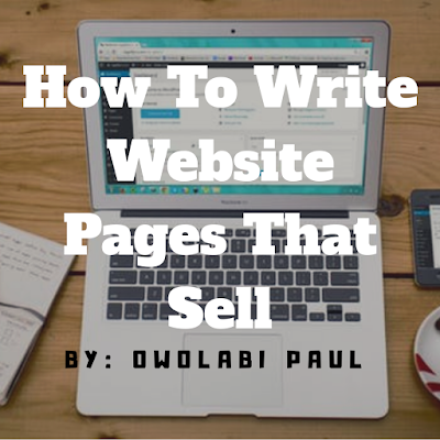 How to write website pages that sell