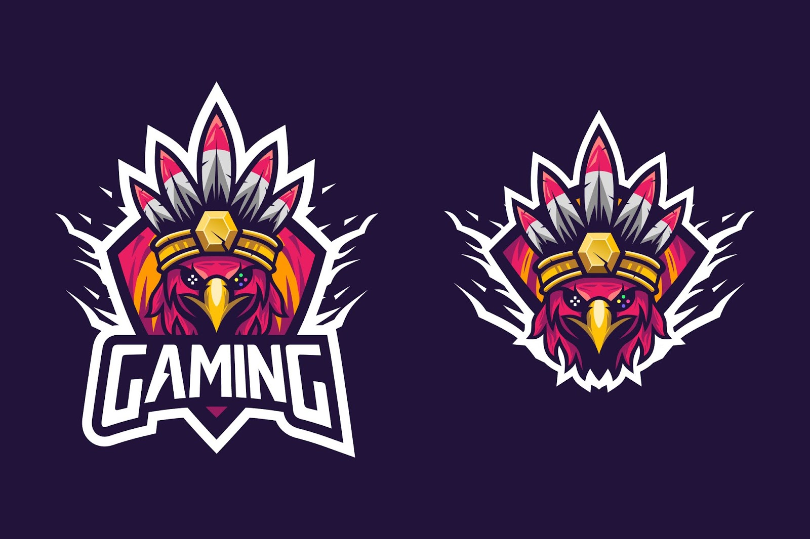 Awesome Bird Style Indian Tribe Esports Logo Free Download Vector CDR, AI, EPS and PNG Formats