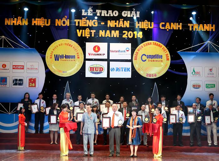 QuocThangCo nhận giải Top 100 nhãn hiệu nổi tiếng