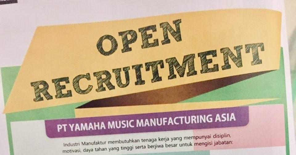 Loker Operator Produksi Pt Yamaha Music Manufacturing Asia Bulan Juni 2020 Random Email Loker