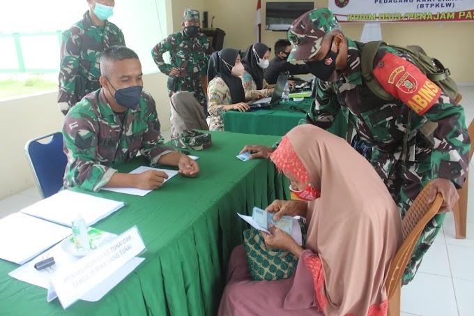 Kodim 0913/PPU Beri Bantuan BTPKLW-TNI Dari  Untuk Warga PPU