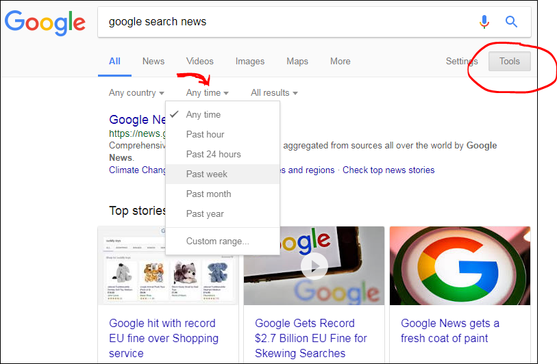 Exclude search results more than x years old or published