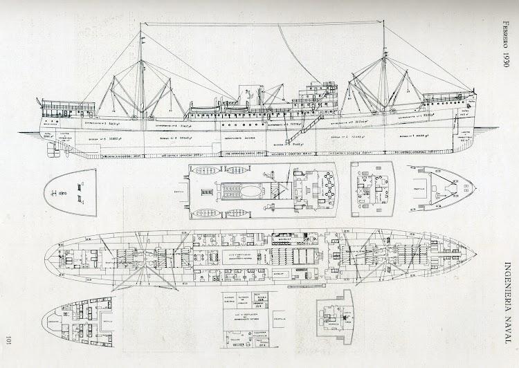 Planos del MAR CANTABRICO. Revista Ingenieria Naval. Febrero de 1930.jpg