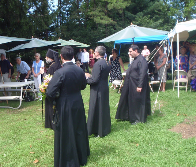Following the Liturgy, the 7th annual Mini-Picnic.  The blessing of the food and drink.