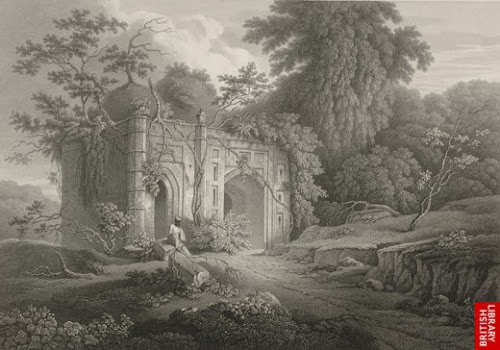 A mosque in the suburb of Dhaka by Charles D'Oyly in 1825. No longer exists today.