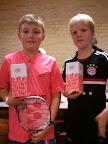 Mathias Møldum (KBK)og Jonathan (Vanløse) vandt 1. præmie i U11D* rækken Knabstruphallen d. 24/11-2012