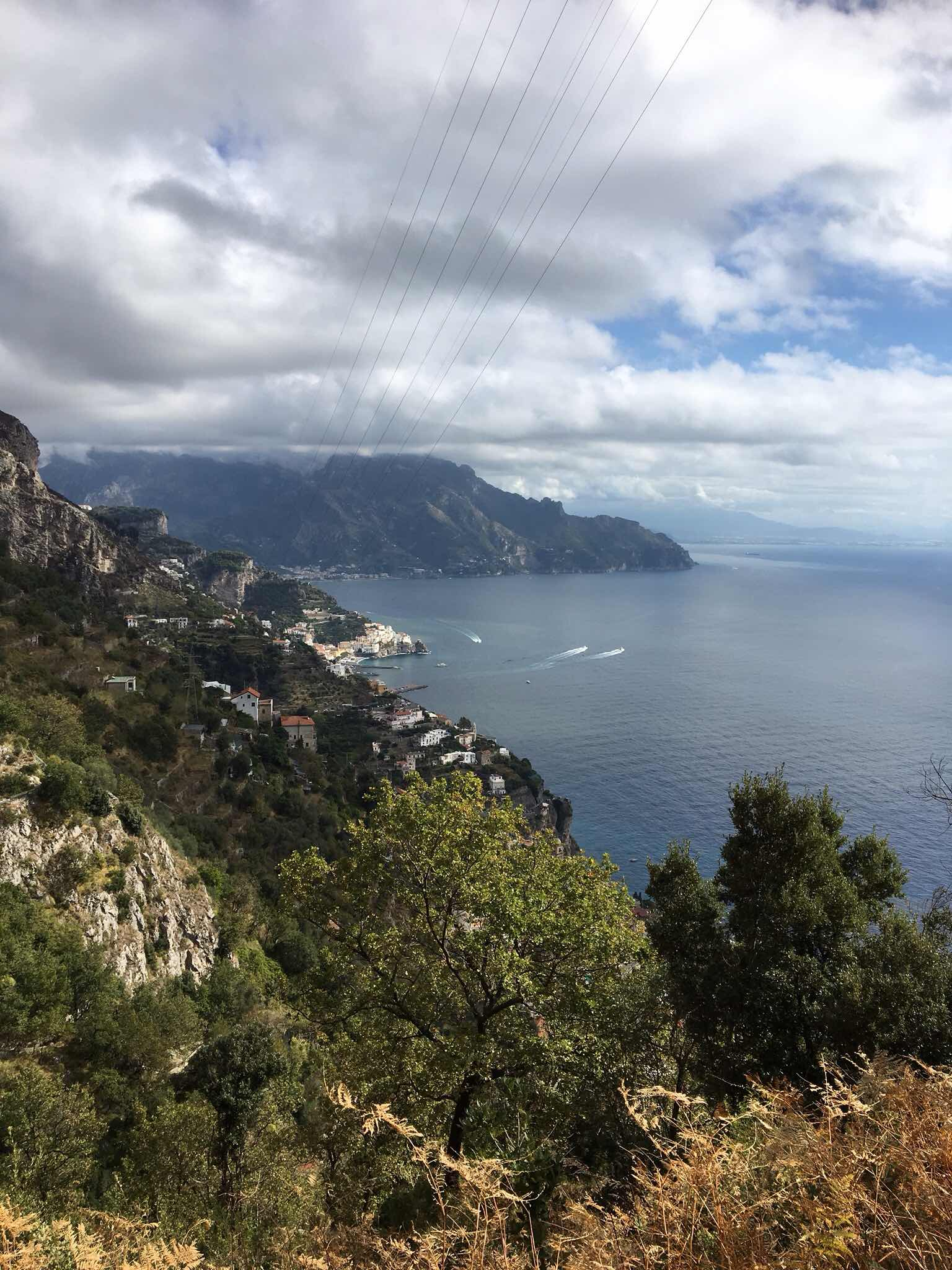 View of the Amalfi coast from Agerola