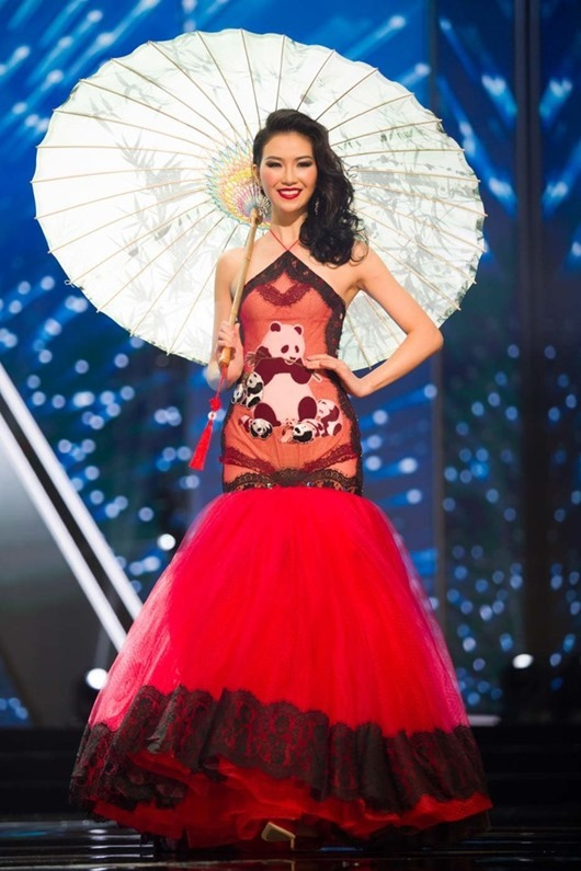 Li Zhen Ying, Miss China 2016  debuts her National Costume on stage at the Mall of Asia Arena on Thursday, January 26, 2017.  The contestants have been touring, filming, rehearsing and preparing to compete for the Miss Universe crown in the Philippines.  Tune in to the FOX telecast at 7:00 PM ET live/PT tape-delayed on Sunday, January 29, live from the Philippines to see who will become Miss Universe. HO/The Miss Universe Organization