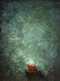 en rouge / huile toile / 100x80 / 1996
