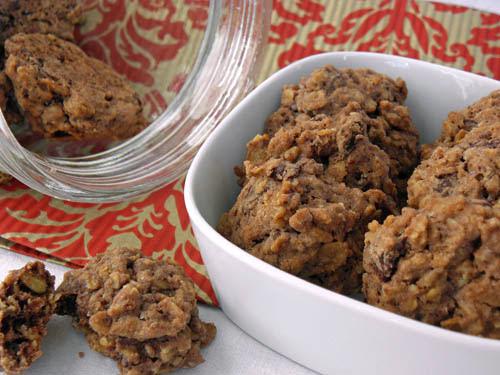 ciasteczka z czekolada i platkami owsianymi
