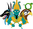 Three Egyptian Gods Only