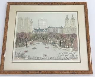 "Cuca Romley's ""Central Park West"" Lithograph"
