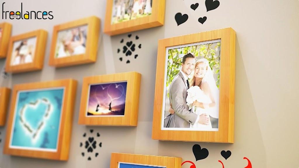 diaporama vidéo mariage modèle cadres photos photo focalisation 08