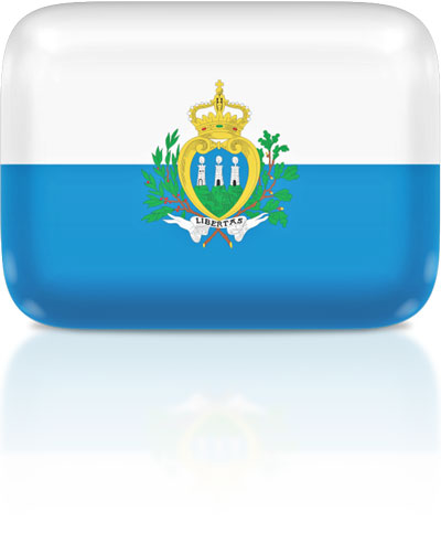 Sammarinese flag clipart rectangular