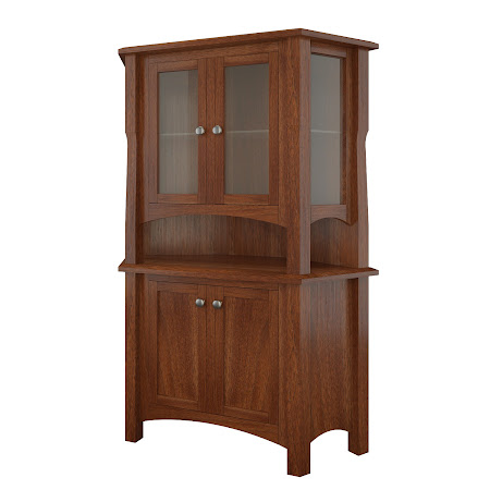 Catalina Corner Cabinet in Alamo Walnut