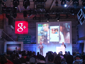 Photo: Vic Gundotra introduces new Hangouts features.