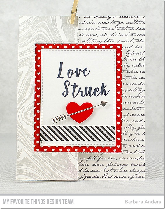 Stamps: Mini Well-Connected Alphabet & Numbers, Romantic Script Background, 100% Lovable, Marble Background  Die-namics: Flop Card – Rectangle, Hearts in a Row – Vertical, Tag Builder Blueprints 5   Barbara Anders   #mftstamps