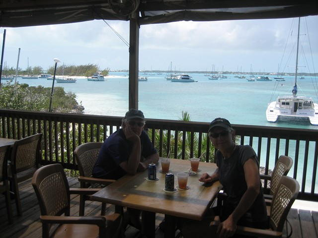 Walt and Meryl at St. Francis Resort, Stocking Island, Exumas, Bahamas