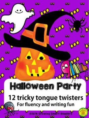 Growing Smart Readers Halloween Monday Morning Tongue Twister Fun