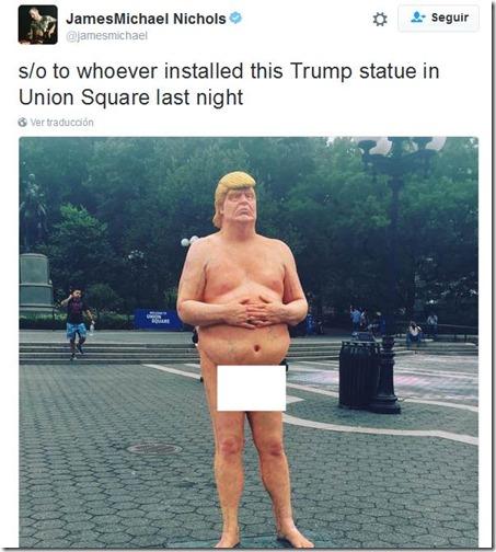 estatua de trump 1