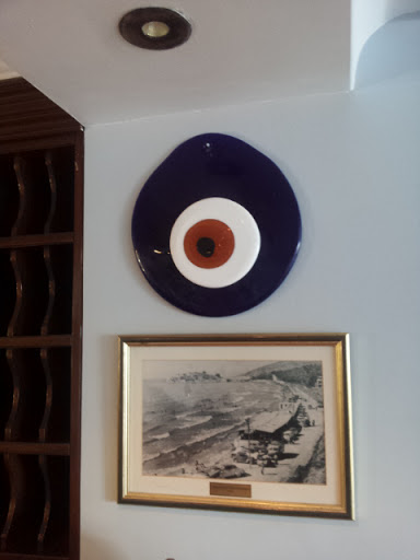 An enormous evil eye, at the Hotel Kismet in Kusadasi, Turkey