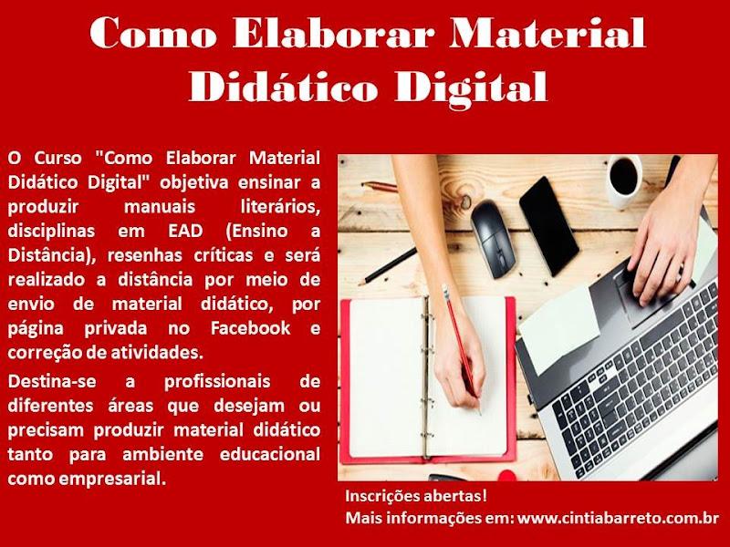 Curso Como Elaborar Material Didático Digital