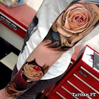 cupcake cherry rose arm - tattoos for men