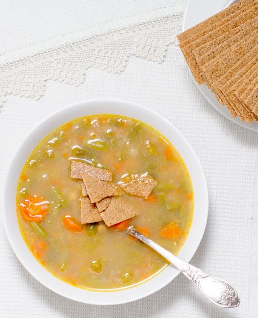 Supa cu naut si fasole verde