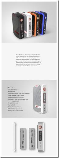 Tarot VTC 200 Mod thumb%25255B7%25255D - 【MOD】ちょい高級VAPE!VAPORESSOの200W VW/TC MOD「TAROT 200 VTC」近日登場!最高3Ωまで対応