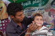 Face painting at Change Square. Sana'a, Yemen  ساحة التغيير بصنعاء اليمن