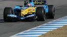 Renault R25 shake down Fernando Alonso