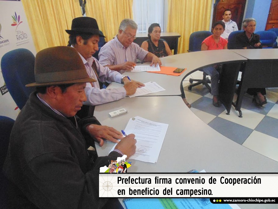 PREFECTURA FIRMA CONVENIO DE COOPERACIÓN EN BENEFICIO DEL CAMPESINO