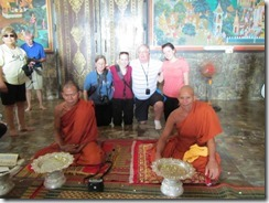 Monk Blessing in Cambodia