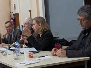 Photo: Table ronde 2 : La laïcité vécue dans la classe animée par Jean-Michel Zakhartchouk avec : Anne Anglès, Benoit Falaize et Patrick Gonthier