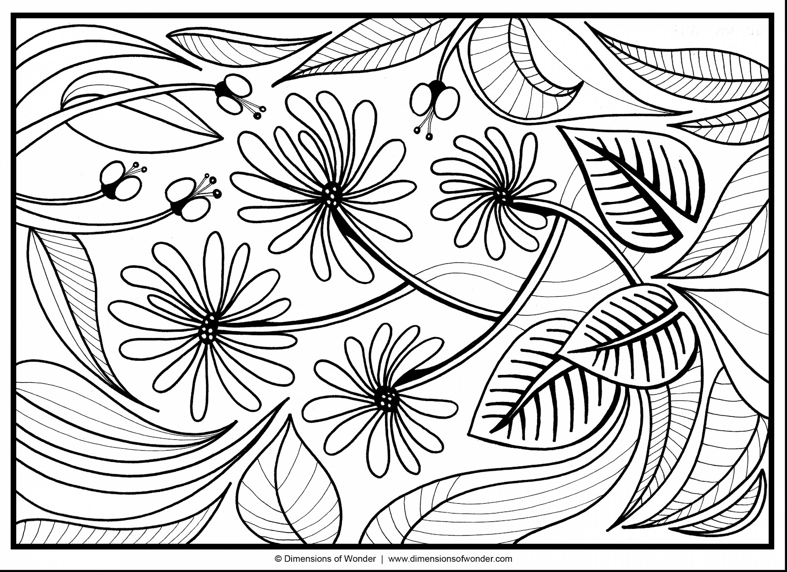 coloring pages abstract - hd abstract flower coloring pages images