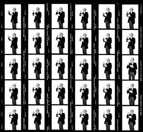 Time Travel with Andy Warhol: Contact Sheets